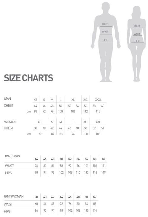 Sportful Karpos apparel size chart